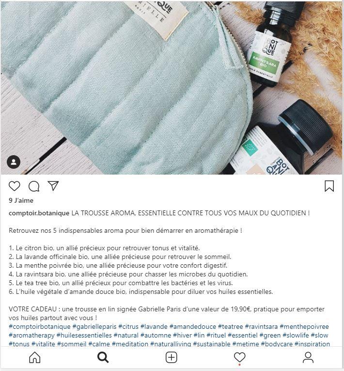 Instagram comptoir botanique