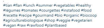 Hashtag publication biocoop